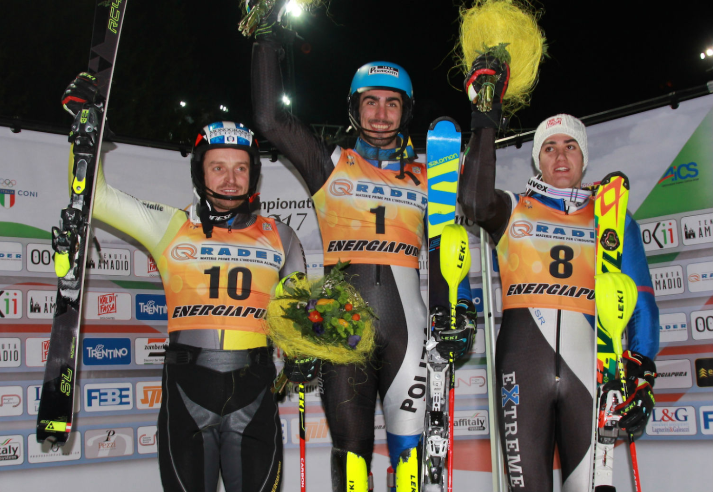 Tommy Sala podio Italiani Assoluti Slalom 2017
